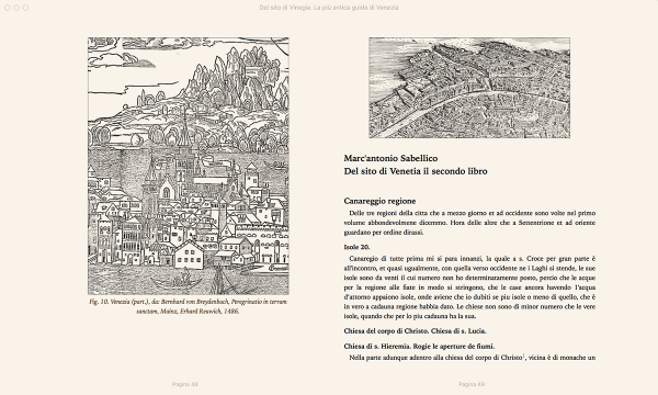 Del sito di Vinegia, la più antica guida di Venezia. Di Marco Antonio Sabellico. — Libro + E-book-212