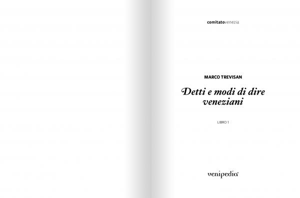 Detti e modi di dire veneziani — Libro 1-388